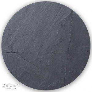 Black stone – Ø35 cm round vinyl backdrop