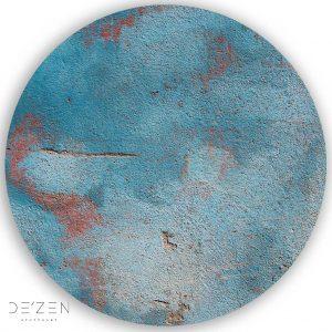 Blue Grunge – Ø35 cm round vinyl backdrop