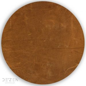 Brown leather – Ø35 cm round vinyl backdrop