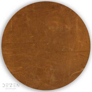 Brown leather – Ø35 cm round vinyl backdrop