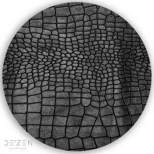 Black leather – Ø35 cm round vinyl backdrop