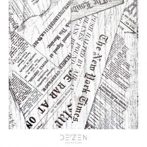 Newspaper- 45/45 cm Square vinyl backdrop