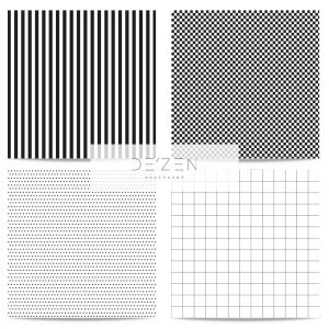 Pattern set of 4- 45/45 cm Square vinyl backdrop