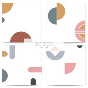 Shapes set of 4- 45/45 cm Square vinyl backdrop