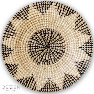 Rattan plate – Ø35 cm round vinyl backdrop