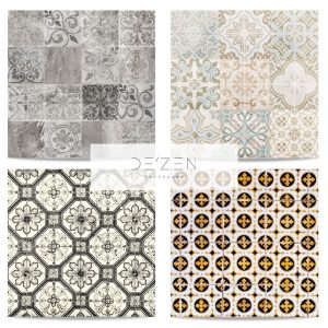 Tiles set of 4- 45/45 cm Square vinyl backdrop