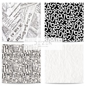 Typography set of 4- 45/45 cm Square vinyl backdrop