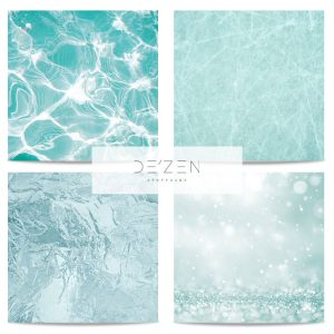 Water set of 4- 45/45 cm Square vinyl backdrop