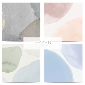 Watercolors set of 4- 45/45 cm Square vinyl backdrop