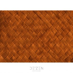 Bronze rattan – 50/70 cm vinyl backdrop