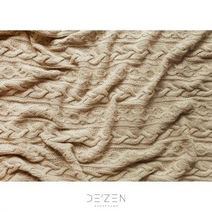 Knit beige fabric – 50/70 cm vinyl backdrop