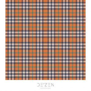 Orange tartan- 45/45 cm Square vinyl backdrop