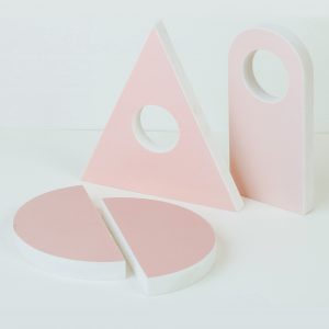 Blush pink Set- Still Life podium stand