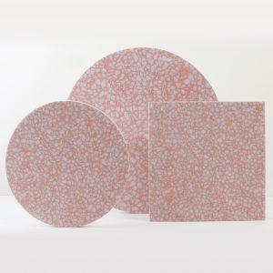 Blush pink terrazzo- Still Life podium stand